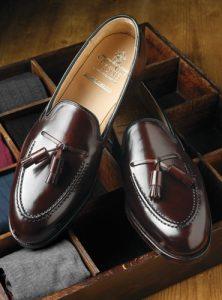 Crockett and Jones Cordovan tassel loafers