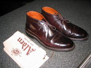 Alden Cordovan ankle boots.
